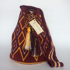 Mochilas Wayuu Patrones Rombos Borlas Asa Ancha