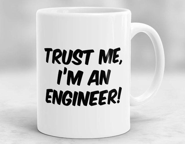 Mugs Mensajes Divertidos Trust Me I am An Engineer