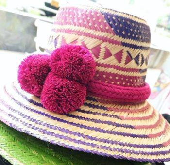 Sombrero Wayuu con Borlas