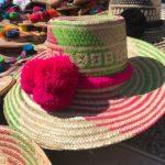 Sombrero Wayuu Con Borlas Fucsia