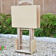 mesita de madera x 2