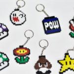 Llaveros de Colores con Figuras de Caricaturas de Mario Bros