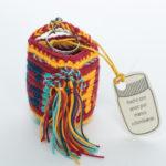 Mochilas Wayuu Miniatura Llaveros de Colores Amarillo Azul Rojo