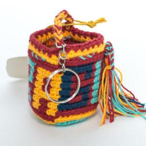 Mochilas Wayuu Miniatura Llaveros de Colores