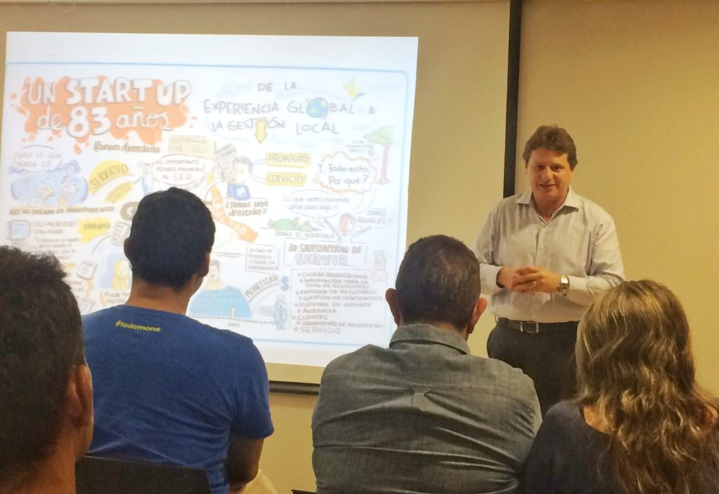 Ramiro Avendaño CEO EL Heraldo Evento ImpactHub