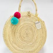 Bolsos Palma de Iraca Redondos con Borlas Wayuu