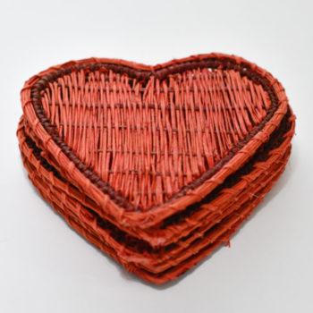 portavasos corazon