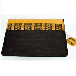 Estuche En Cana Flecha Para Computadora Amarillo Con Negro Con Accesorio