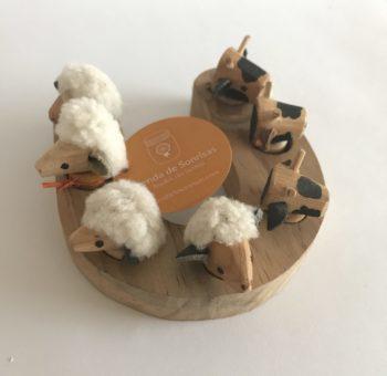 juego herradura en madera animales