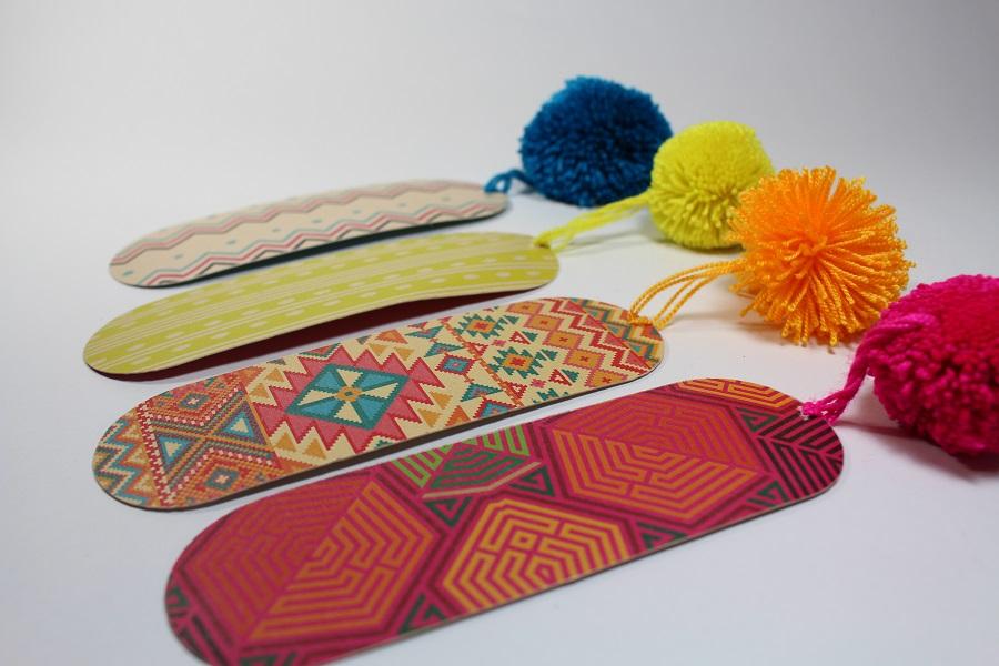 Separadores de libros motivos wayuu colores