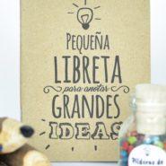 libreta pequeña artesanal papel reciclado creatividad