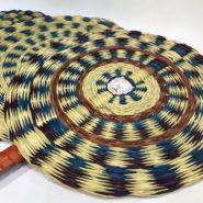 Abanicos artesanales en palma de estera