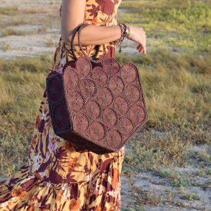 outfit verano bolso en palma de iraca