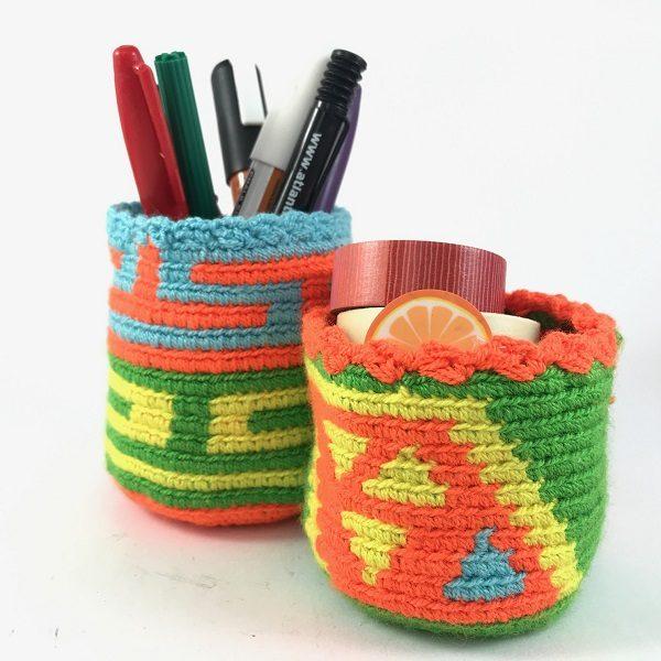 Portalapices wayuu en colores