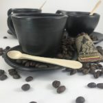 Pocillos ceramica negra