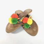 sandalias wayuu con borlas