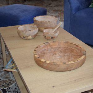 bandejas en madera y totumo