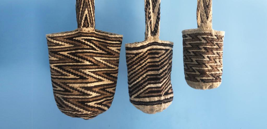 mochilas arhuacas en tres tamaños