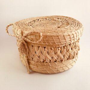 Canasto costurero en Palma de Iraca
