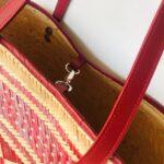 Canasto Wayuu con cuero