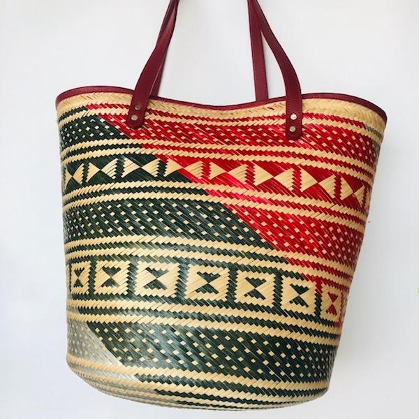 Canastos Wayuu con Cuero