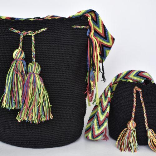 Mochilas Wayuu Mama e Hija Tejidas a Mano Por Mujeres Indigenas